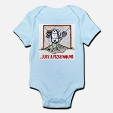 Lacrosse Goalie Fleshwound Infant Bodysuit