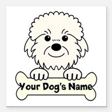 "Personalized Dandie Square Car Magnet 3"" x 3"""