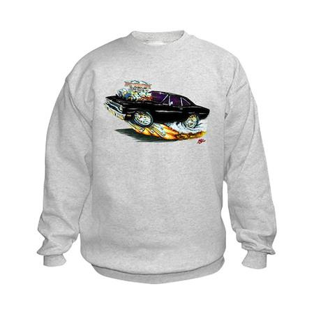 1970 Roadrunner Black Car Kids Sweatshirt