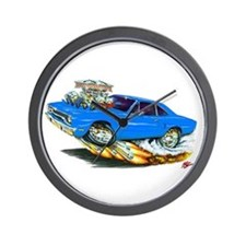 1970 Roadrunner Blue Car Wall Clock