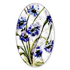 """""""Wild Flowers"""" Oval Decal"""