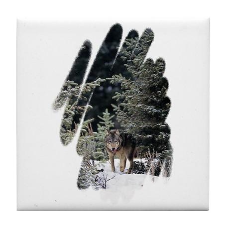 """Wolf"" Tile Coaster"