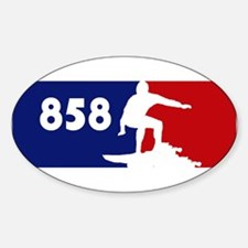 858 Oval Decal