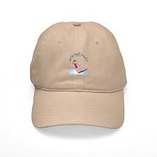 Blonde Water Skier Baseball Cap