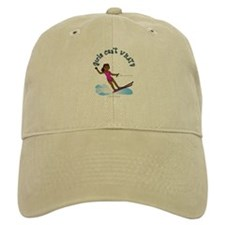 Dark Water Skier Baseball Cap