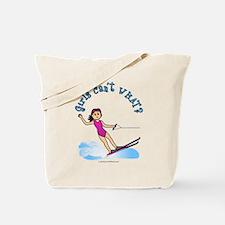 Light Water Skiing Tote Bag