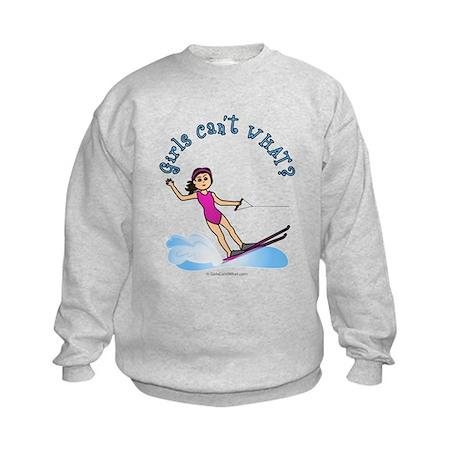 Light Water Skiing Kids Sweatshirt