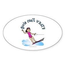 Light Water Skiing Oval Decal