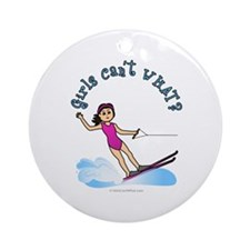 Light Water Skiing Ornament (Round)