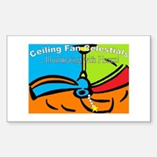 Ceiling Fan Celestials Rectangle Decal