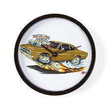1970 Roadrunner Brown Car Wall Clock