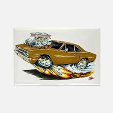 1970 Roadrunner Brown Car Rectangle Magnet (10 pac