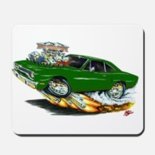 1970 Roadrunner Dark Green Car Mousepad