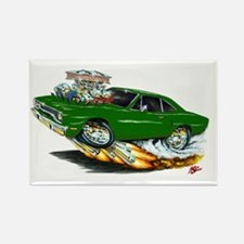 1970 Roadrunner Dark Green Car Rectangle Magnet (1