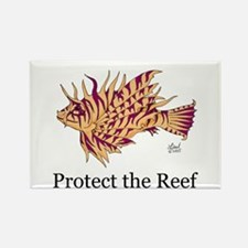 Protect the Reef Rectangle Magnet