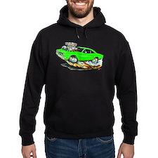 1970 Roadrunner Green Car Hoodie