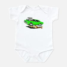 1970 Roadrunner Green Car Infant Bodysuit