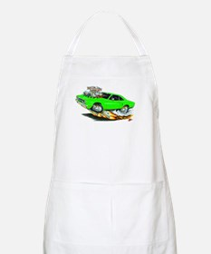 1970 Roadrunner Green Car BBQ Apron
