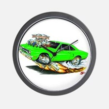1970 Roadrunner Green Car Wall Clock