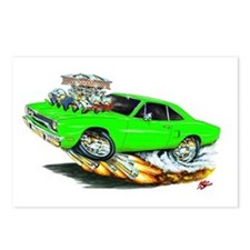 1970 Roadrunner Green Car Postcards (Package of 8)