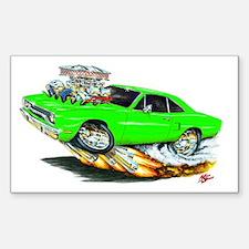 1970 Roadrunner Green Car Rectangle Decal