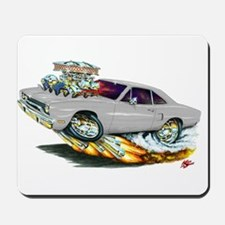 1970 Roadrunner Silver/Grey Car Mousepad