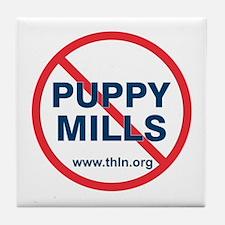 No Puppy Mills Tile Coaster