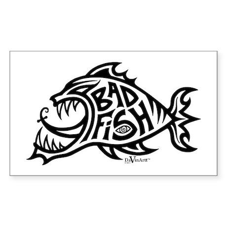 Bad Fish Rectangle Sticker