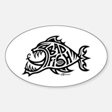Bad Fish Oval Decal