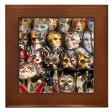 Italy Framed Tile: <br> Venetian masks