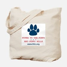 Power to the Puppy! Tote Bag
