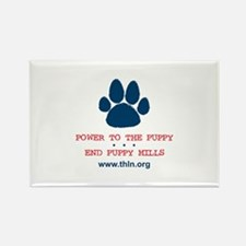 Power to the Puppy! Rectangle Magnet