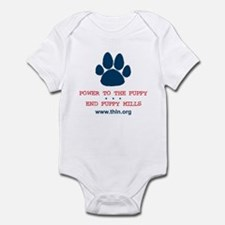 Power to the Puppy! Infant Bodysuit