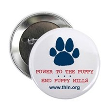 """Power to the Puppy! 2.25"""" Button"""