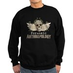 Forensic Anthropology Sweatshirt (dark) - Forensic anthropology gifts and apparel with a winged skull and floral background on graphic t-shirts, tees, stickers, mugs, buttons and more gifts for a forensic anthropologist or Bones fan. - Availble Sizes:Small,Medium,Large,X-Large,2X-Large (+$3.00) - Availble Colors: Black,Navy
