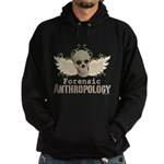 Forensic Anthropology Hoodie (dark) - Forensic anthropology gifts and apparel with a winged skull and floral background on graphic t-shirts, tees, stickers, mugs, buttons and more gifts for a forensic anthropologist or Bones fan. - Availble Sizes:Small,Medium,Large,X-Large,2X-Large (+$3.00),3X-Large (+$3.00) - Availble Colors: Black,Navy