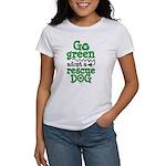 Go Green Adopt a Rescue Dog Women's T-Shirt