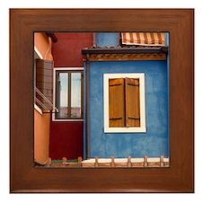 Italy Framed Tile: <br> Burano windows