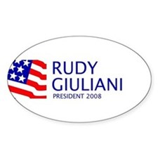 Giuliani 08 Oval Decal