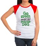 Go Green Adopt a Rescue Dog Women's Cap Sleeve T-S