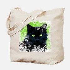 BLACK CAT & SNOWFLAKES Tote Bag