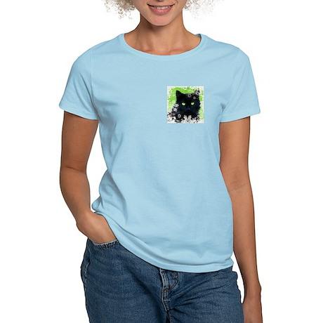 Black Cat & Snowflakes Women's Light T-Shirt