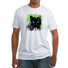 Black Cat & Snowflakes Shirt