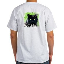 Black Cat & Snowflakes T-Shirt