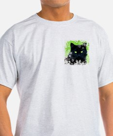 BLACK CAT & SNOWFLAKES T-Shirt