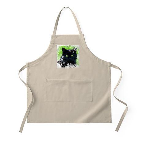 Black Cat & Snowflakes Apron