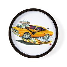 1970 Roadrunner Orange Car Wall Clock