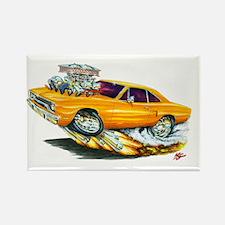1970 Roadrunner Orange Car Rectangle Magnet (10 pa