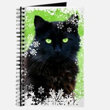 BLACK CAT & SNOWFLAKES Journal