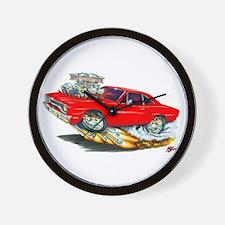 1970 Roadrunner Red Car Wall Clock